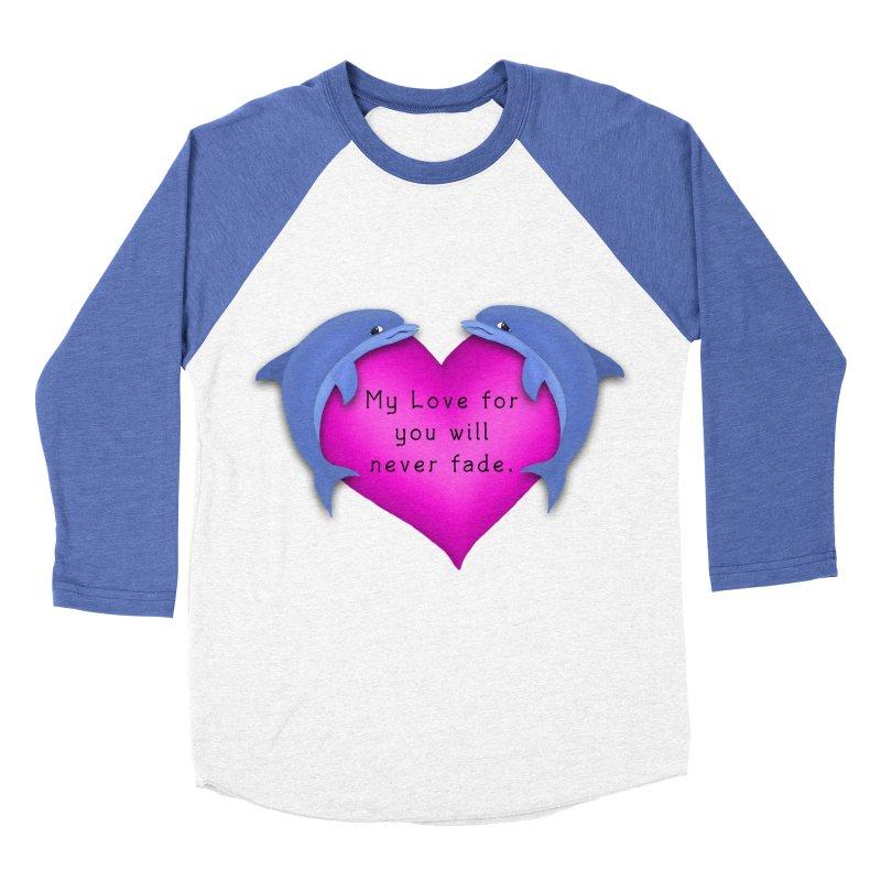 Dolphin Love Women's Baseball Triblend Longsleeve T-Shirt by nicolekieferdesign's Artist Shop