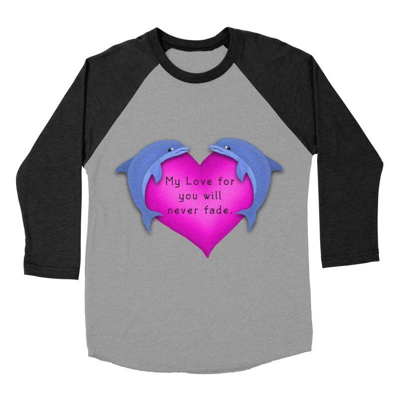 Dolphin Love Men's Baseball Triblend T-Shirt by nicolekieferdesign's Artist Shop