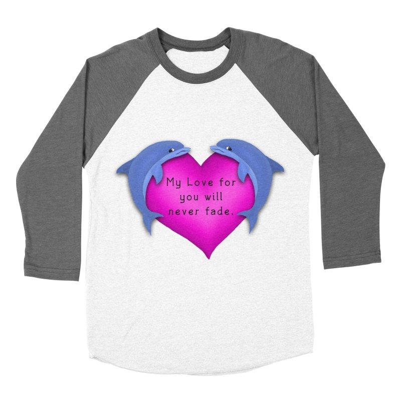 Dolphin Love Men's Baseball Triblend Longsleeve T-Shirt by nicolekieferdesign's Artist Shop