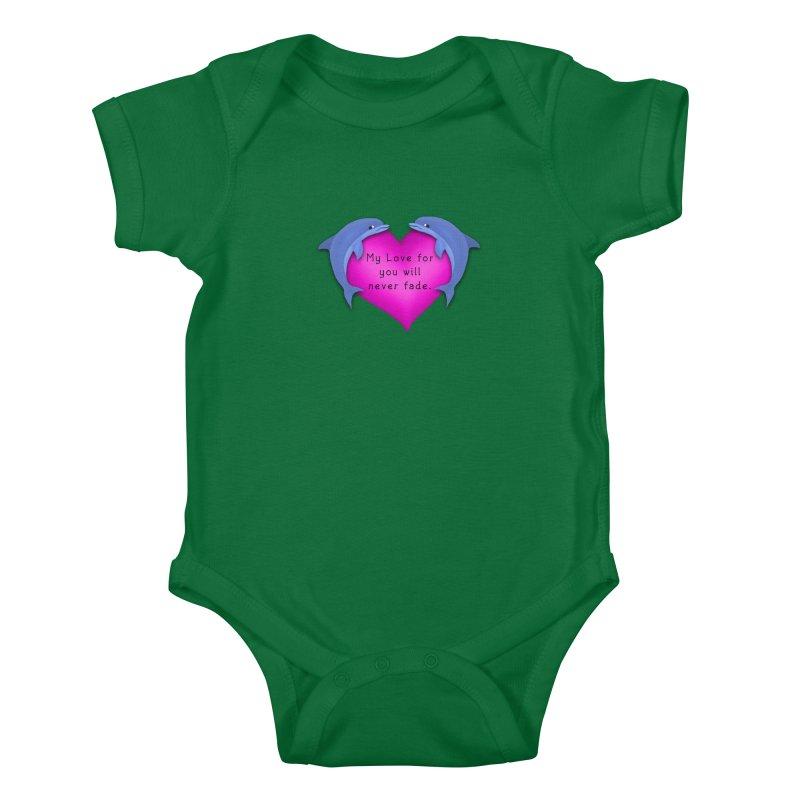 Dolphin Love Kids Baby Bodysuit by nicolekieferdesign's Artist Shop