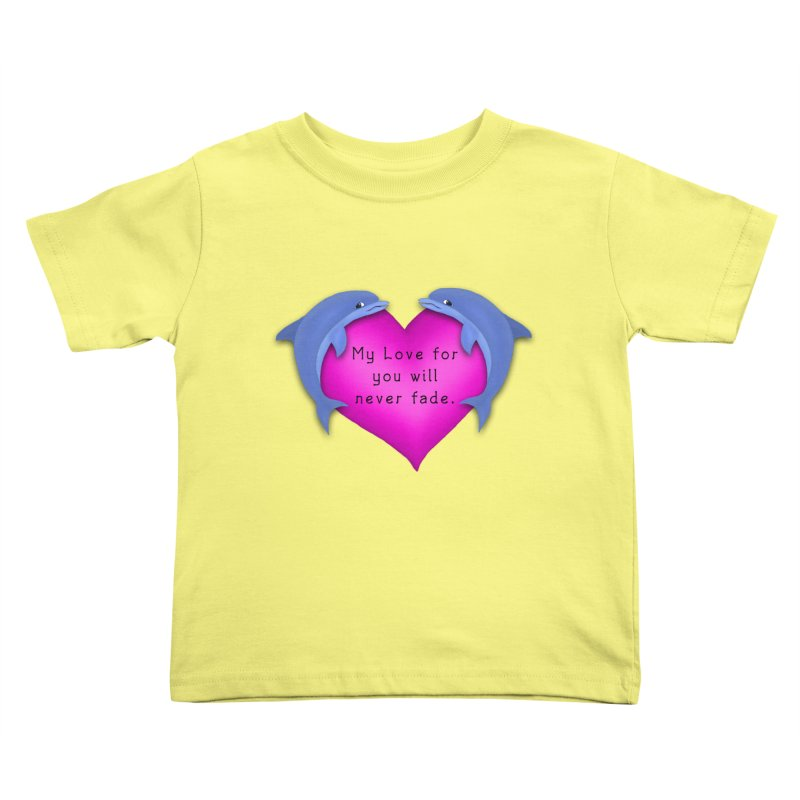 Dolphin Love Kids Toddler T-Shirt by nicolekieferdesign's Artist Shop