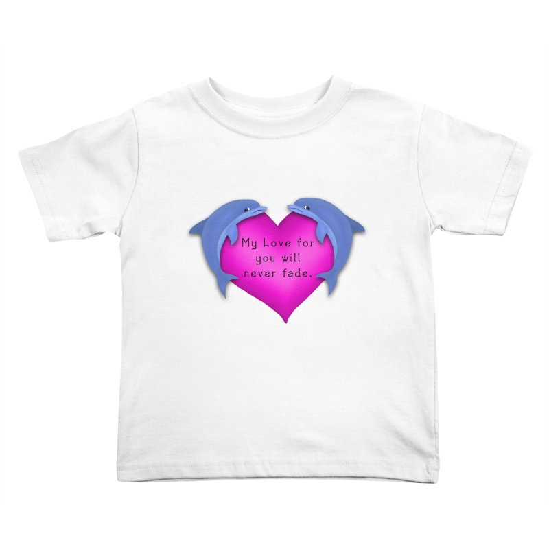 Dolphin Love Kids Toddler T-Shirt by nicolekieferdesign's Artist Shop