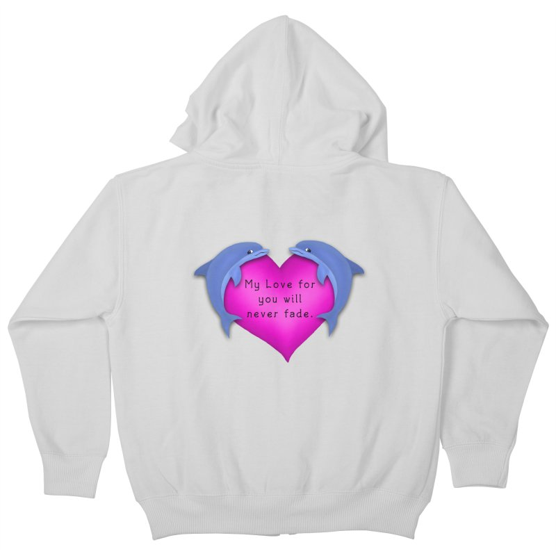 Dolphin Love Kids Zip-Up Hoody by nicolekieferdesign's Artist Shop
