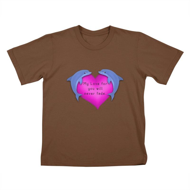 Dolphin Love Kids T-Shirt by nicolekieferdesign's Artist Shop