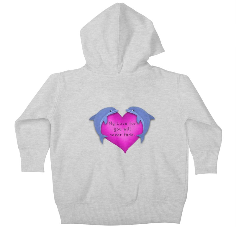 Dolphin Love Kids Baby Zip-Up Hoody by nicolekieferdesign's Artist Shop