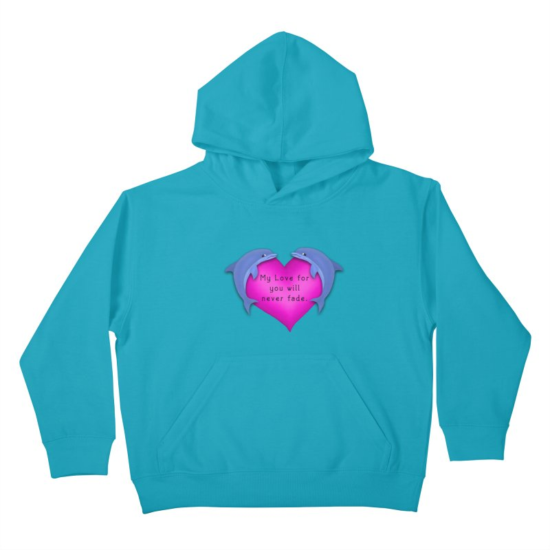 Dolphin Love Kids Pullover Hoody by nicolekieferdesign's Artist Shop