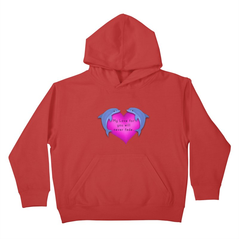 Dolphin Love Kids Pullover Hoody by nicolekieferdesign's Artist Shop