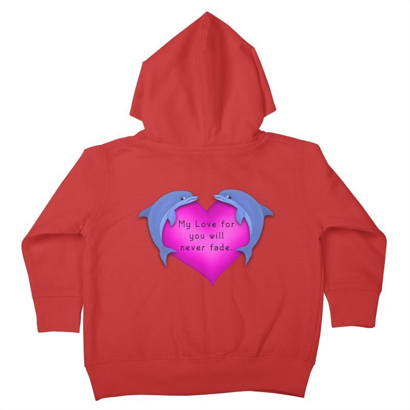 Dolphin Love Kids Toddler Zip-Up Hoody by nicolekieferdesign's Artist Shop