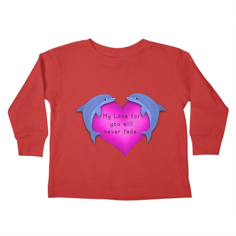 Dolphin Love Kids Toddler Longsleeve T-Shirt by nicolekieferdesign's Artist Shop