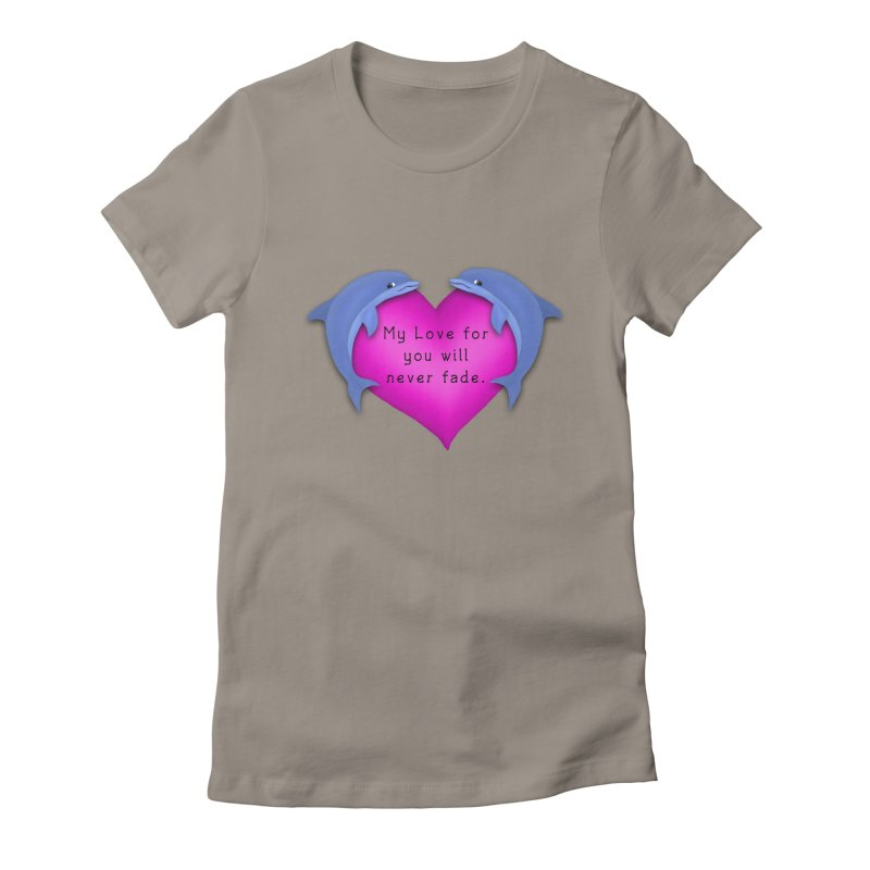 Dolphin Love Women's Fitted T-Shirt by nicolekieferdesign's Artist Shop