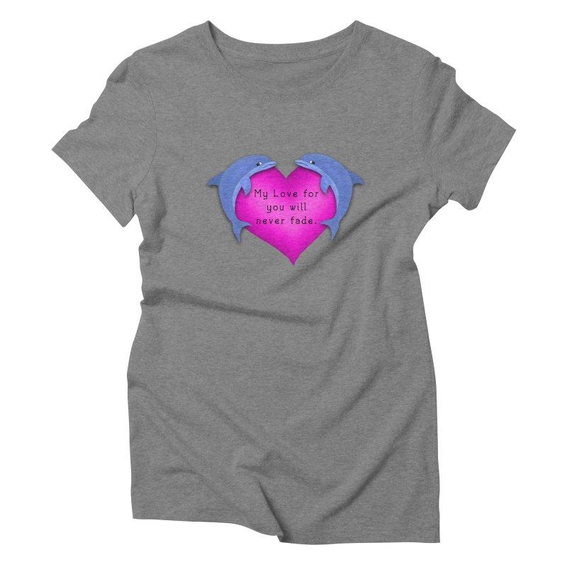 Dolphin Love Women's Triblend T-Shirt by nicolekieferdesign's Artist Shop