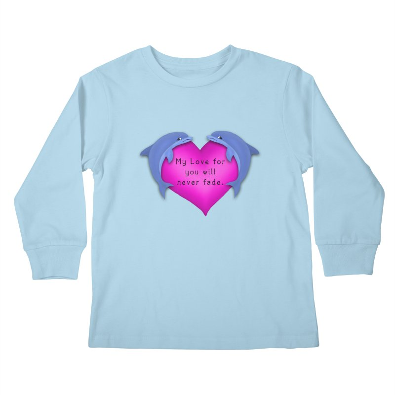 Dolphin Love Kids Longsleeve T-Shirt by nicolekieferdesign's Artist Shop