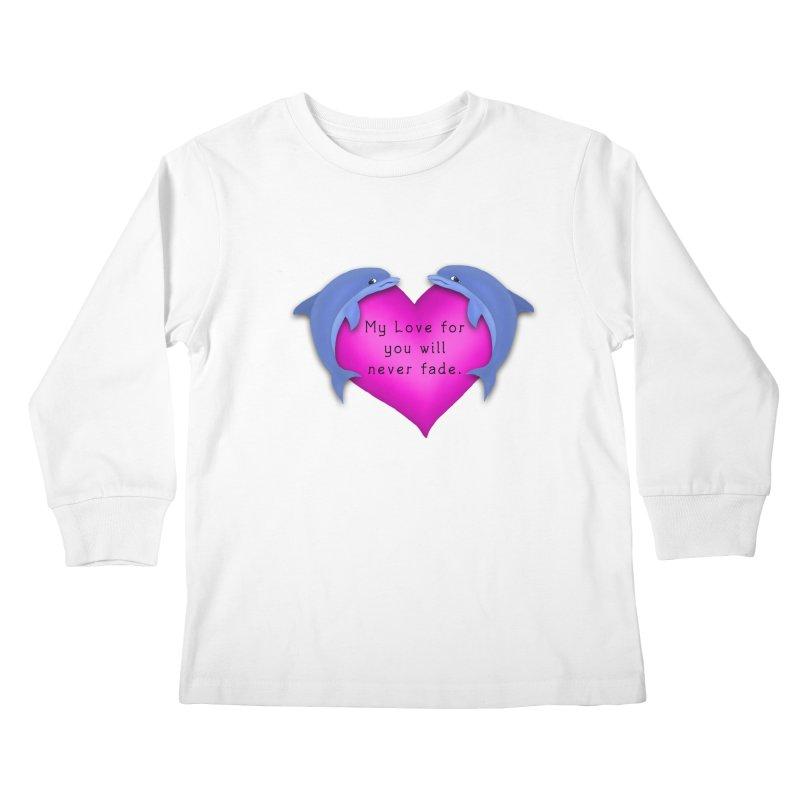 Dolphin Love Kids Longsleeve T-Shirt by nicolekieferdesign's Artist Shop