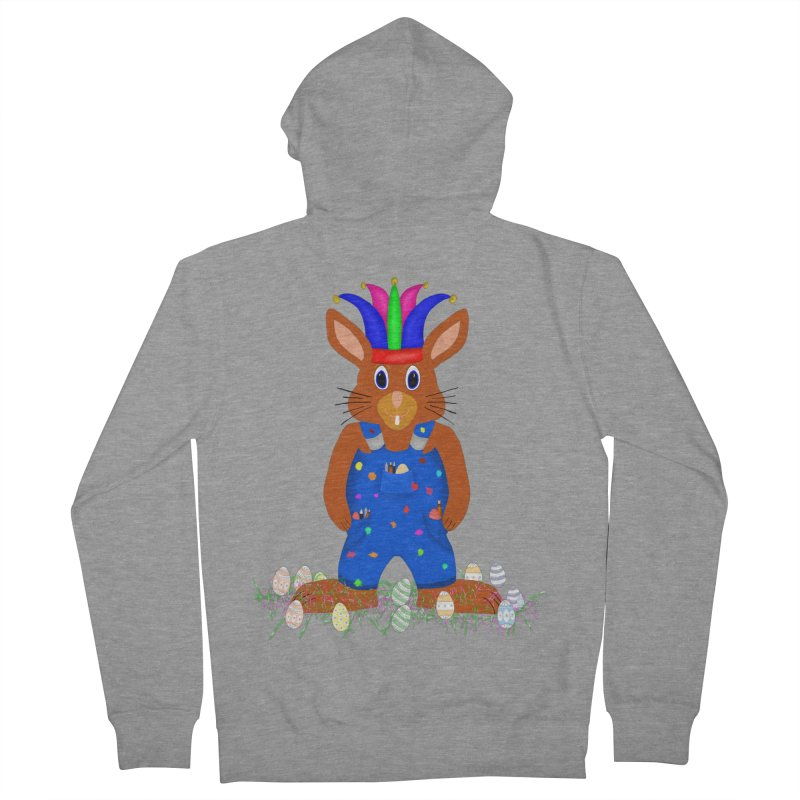 April first Bunny Women's French Terry Zip-Up Hoody by nicolekieferdesign's Artist Shop