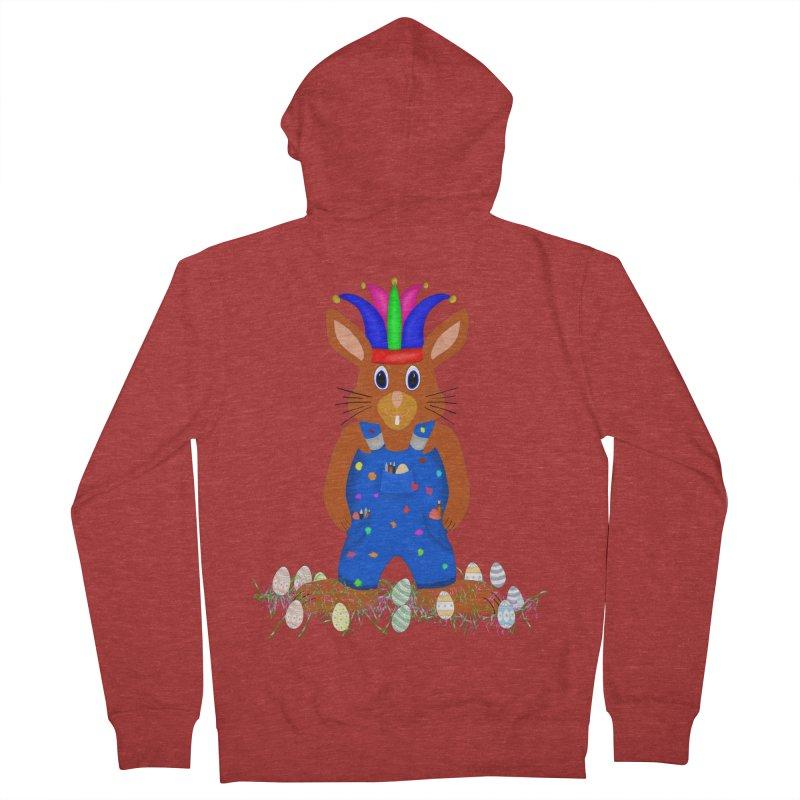 April first Bunny Women's French Terry Zip-Up Hoody by nicolekieferdesign's Artist Shop