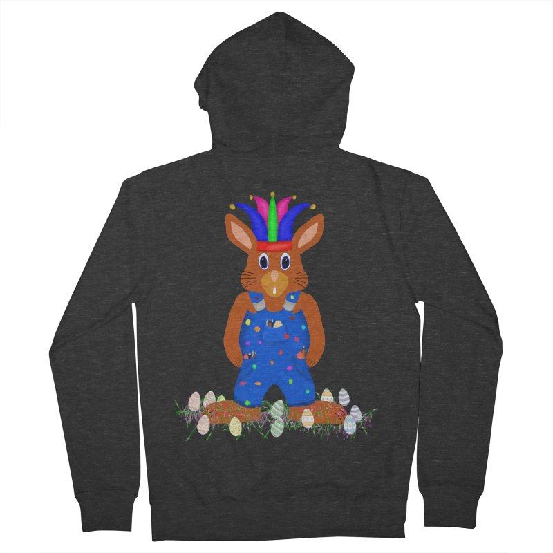 April first Bunny Men's French Terry Zip-Up Hoody by nicolekieferdesign's Artist Shop