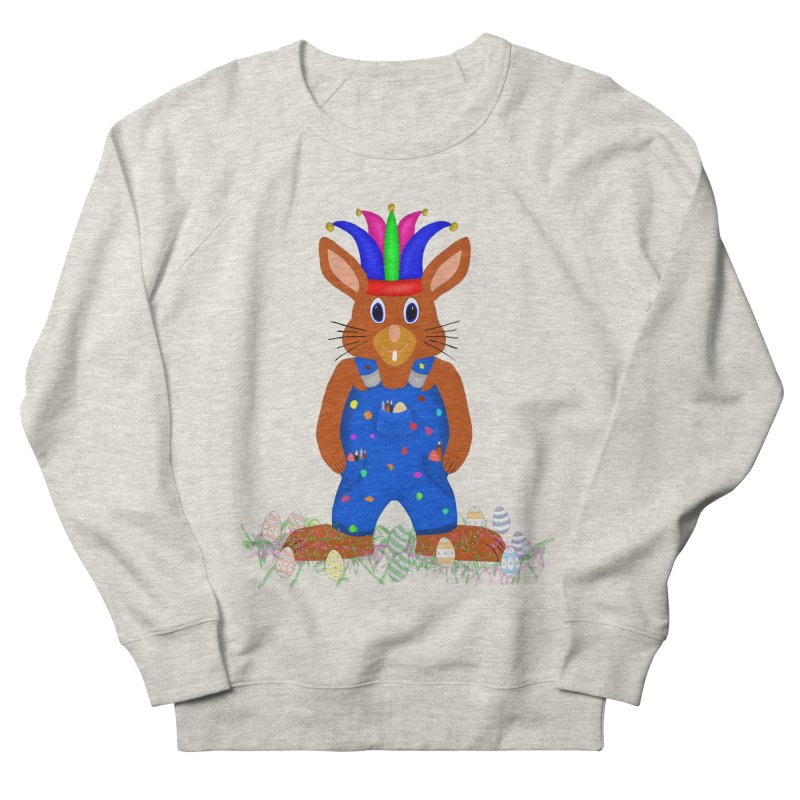 April first Bunny Women's French Terry Sweatshirt by nicolekieferdesign's Artist Shop