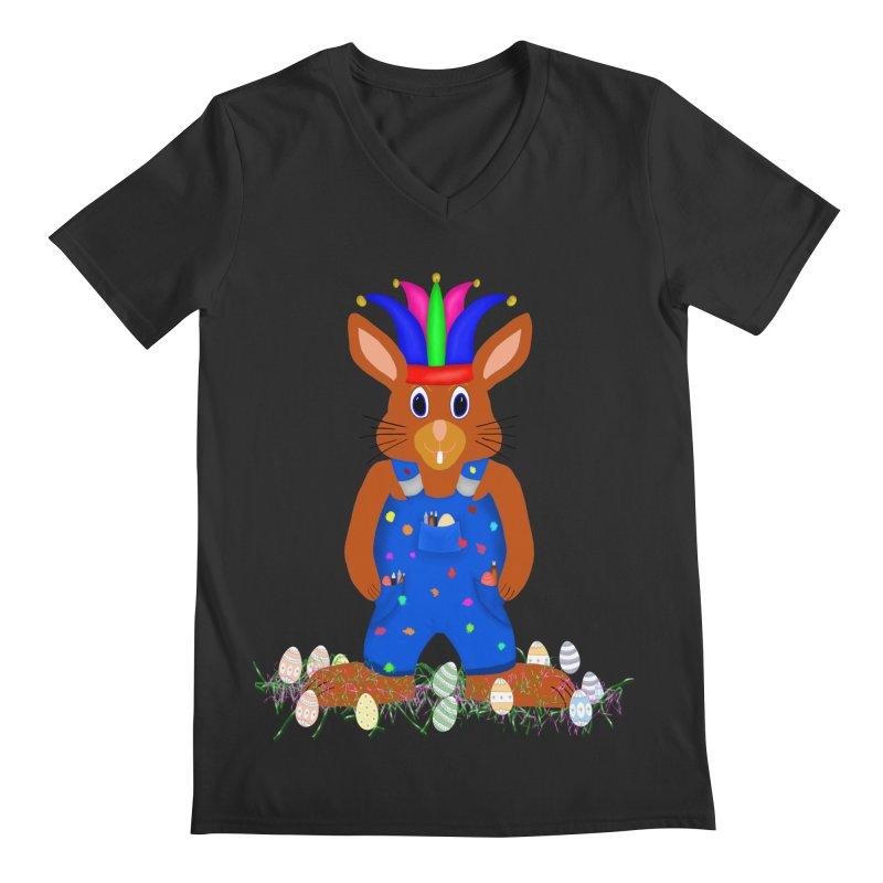 April first Bunny Men's V-Neck by nicolekieferdesign's Artist Shop