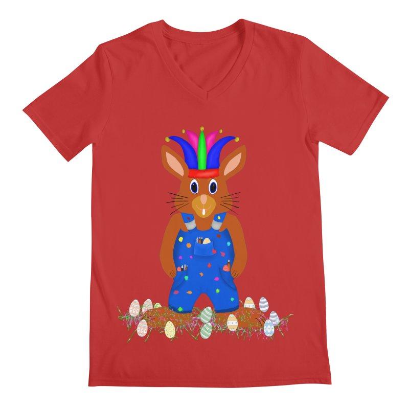 April first Bunny Men's Regular V-Neck by nicolekieferdesign's Artist Shop