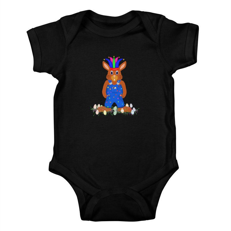 April first Bunny Kids Baby Bodysuit by nicolekieferdesign's Artist Shop