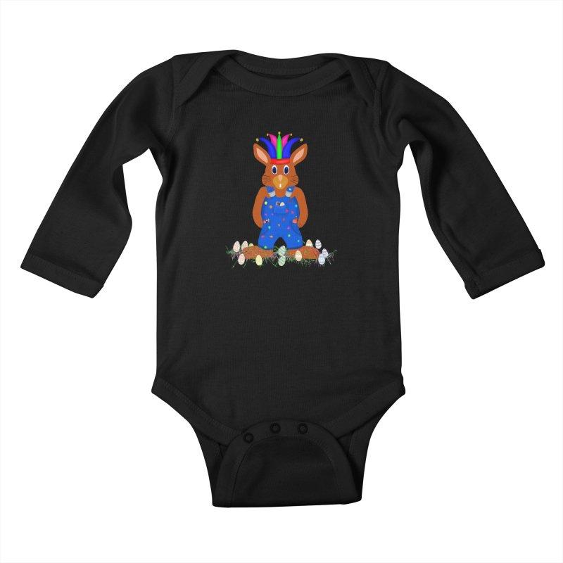 April first Bunny Kids Baby Longsleeve Bodysuit by nicolekieferdesign's Artist Shop
