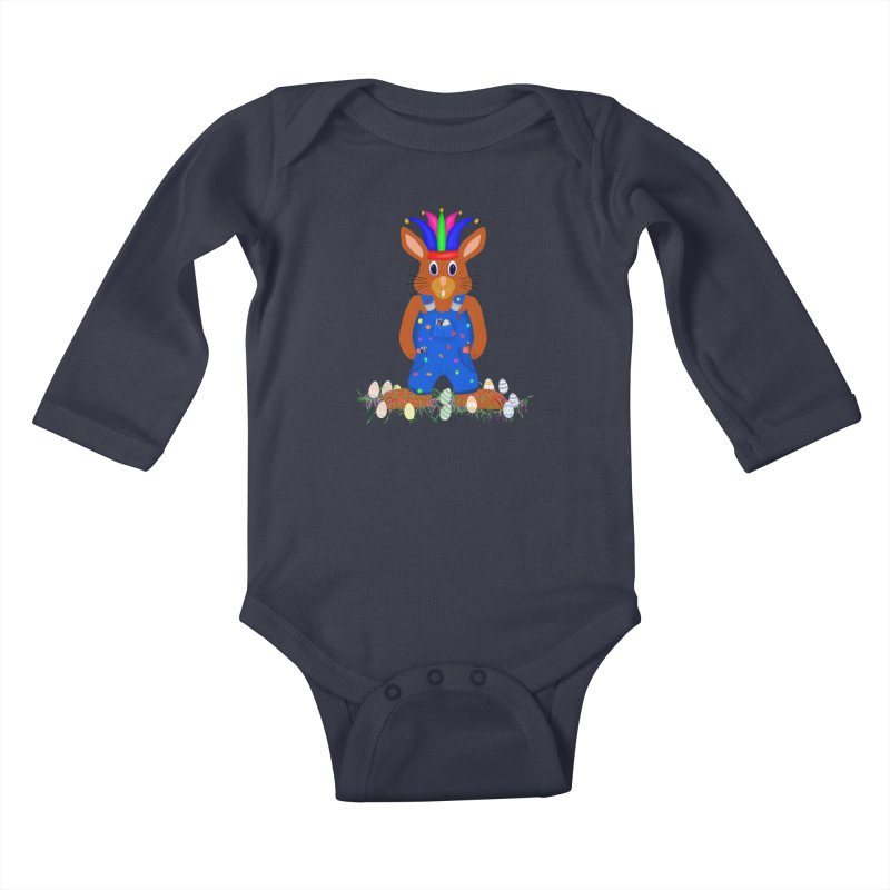 April first Bunny Kids Baby Longsleeve Bodysuit by nicolekieferdesign's Artist Shop