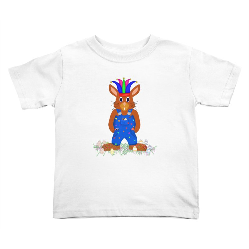 April first Bunny Kids Toddler T-Shirt by nicolekieferdesign's Artist Shop