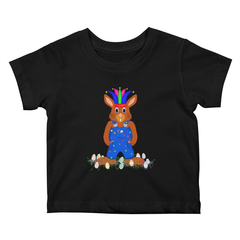 April first Bunny Kids Baby T-Shirt by nicolekieferdesign's Artist Shop