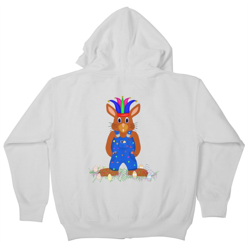 April first Bunny Kids Zip-Up Hoody by nicolekieferdesign's Artist Shop