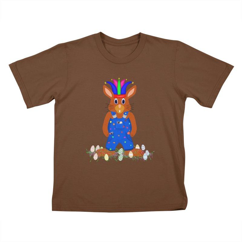 April first Bunny Kids T-Shirt by nicolekieferdesign's Artist Shop