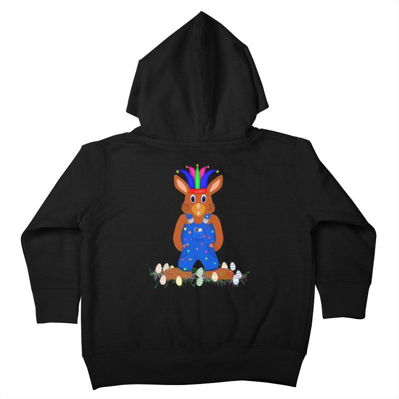 April first Bunny Kids Toddler Zip-Up Hoody by nicolekieferdesign's Artist Shop