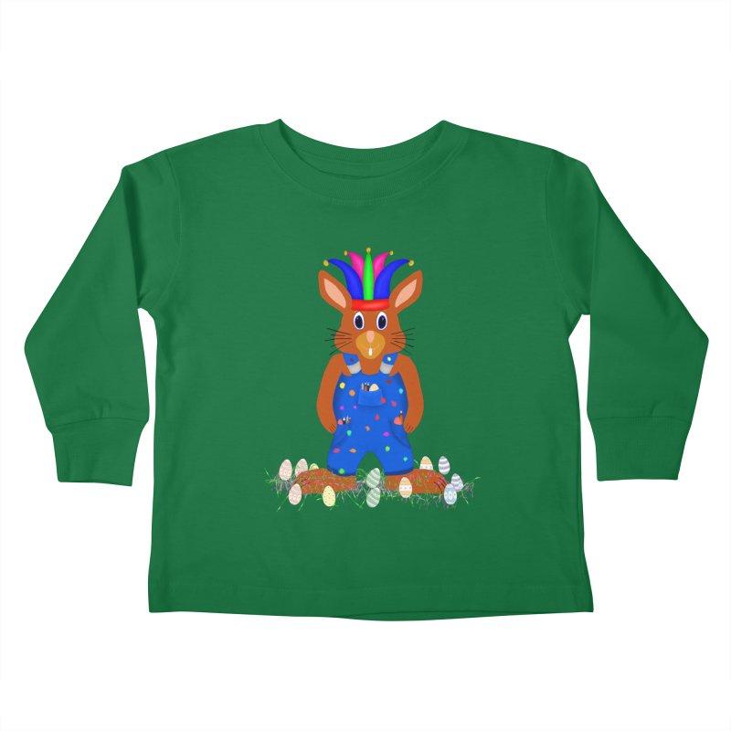 April first Bunny Kids Toddler Longsleeve T-Shirt by nicolekieferdesign's Artist Shop