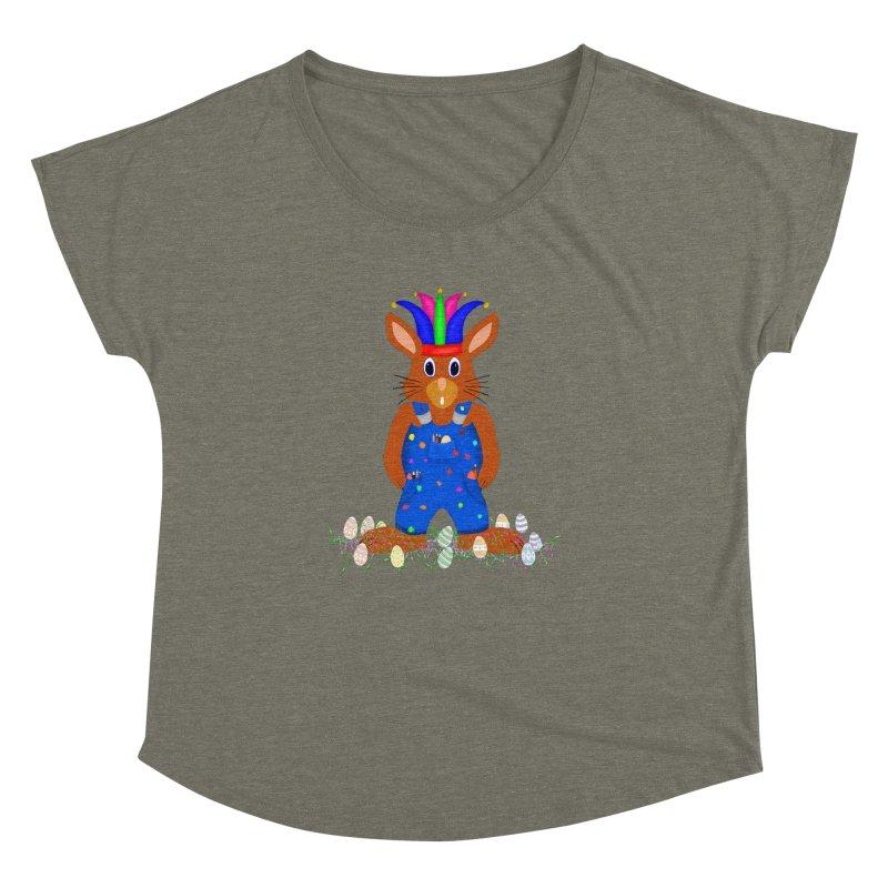 April first Bunny Women's Dolman Scoop Neck by nicolekieferdesign's Artist Shop
