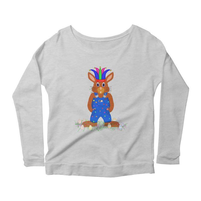 April first Bunny Women's Scoop Neck Longsleeve T-Shirt by nicolekieferdesign's Artist Shop