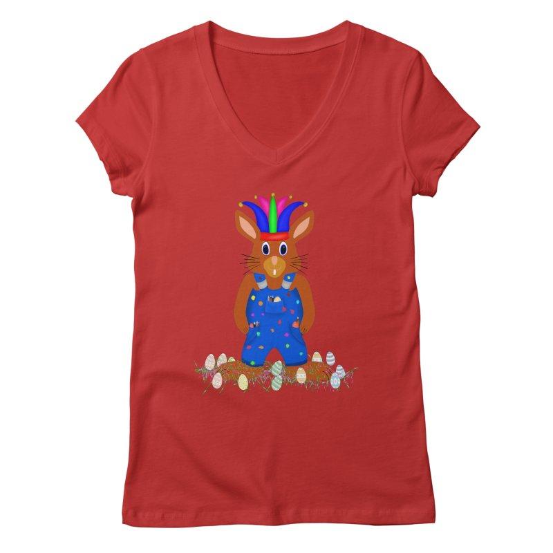 April first Bunny Women's Regular V-Neck by nicolekieferdesign's Artist Shop