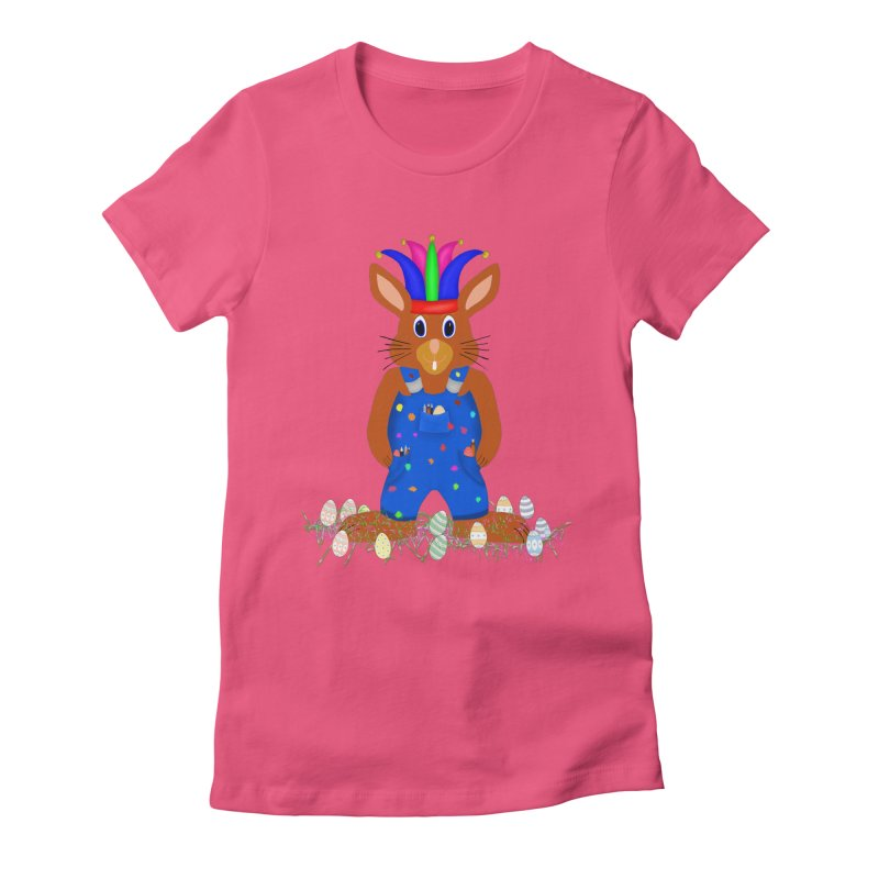 April first Bunny Women's Fitted T-Shirt by nicolekieferdesign's Artist Shop