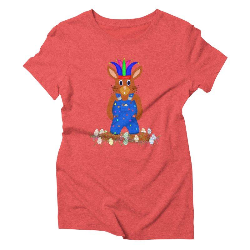 April first Bunny Women's Triblend T-Shirt by nicolekieferdesign's Artist Shop