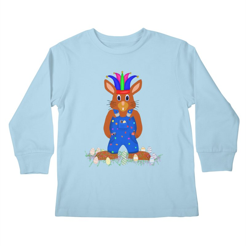 April first Bunny Kids Longsleeve T-Shirt by nicolekieferdesign's Artist Shop