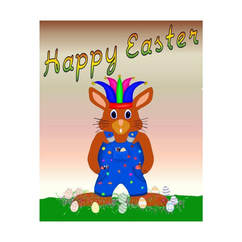 Harlequin Easter Bunny by nicolekieferdesign's Artist Shop