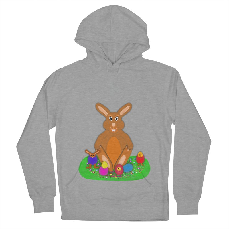 Funny Bunny Women's French Terry Pullover Hoody by nicolekieferdesign's Artist Shop
