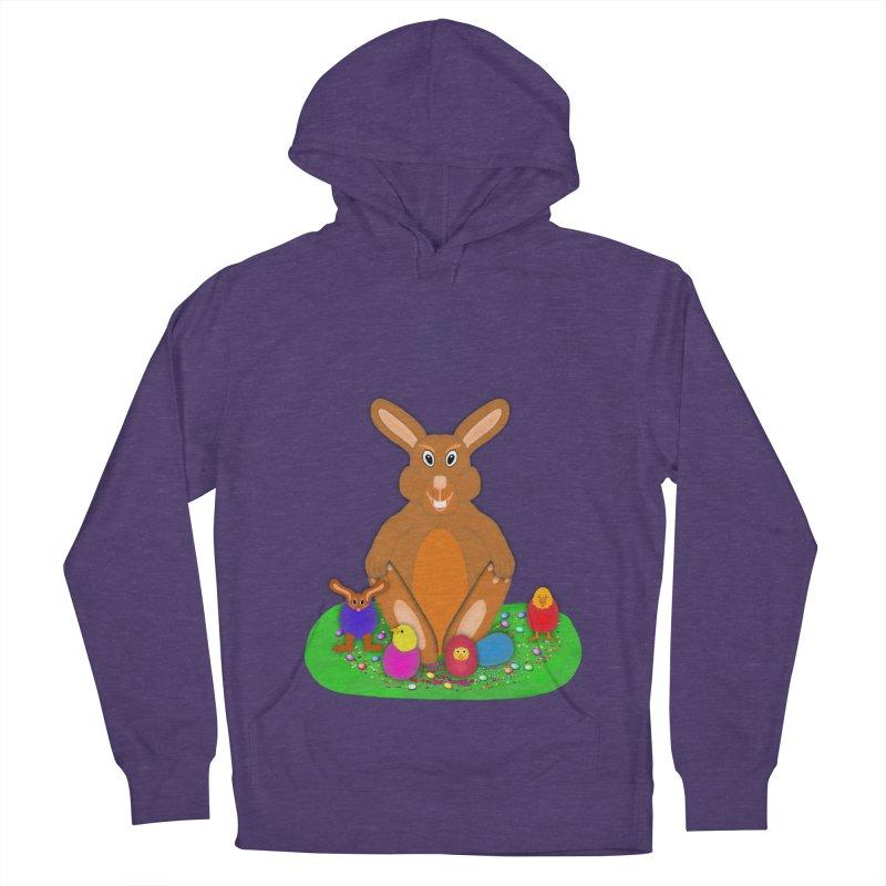 Funny Bunny Men's French Terry Pullover Hoody by nicolekieferdesign's Artist Shop