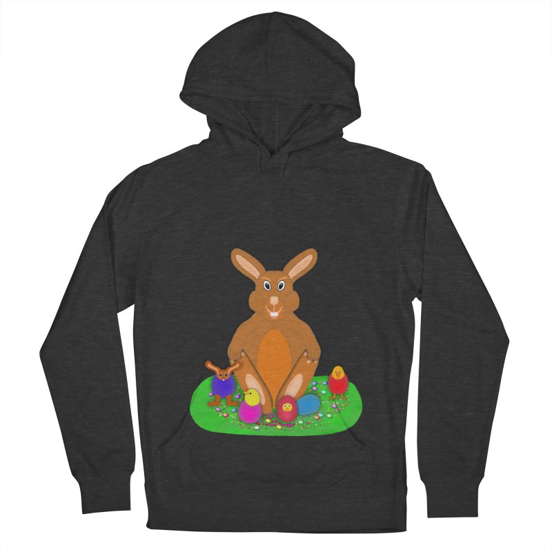 Funny Bunny Men's French Terry Pullover Hoody by nicolekieferdesign's Artist Shop