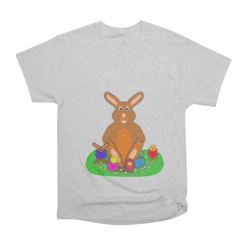 Funny Bunny Women's Heavyweight Unisex T-Shirt by nicolekieferdesign's Artist Shop