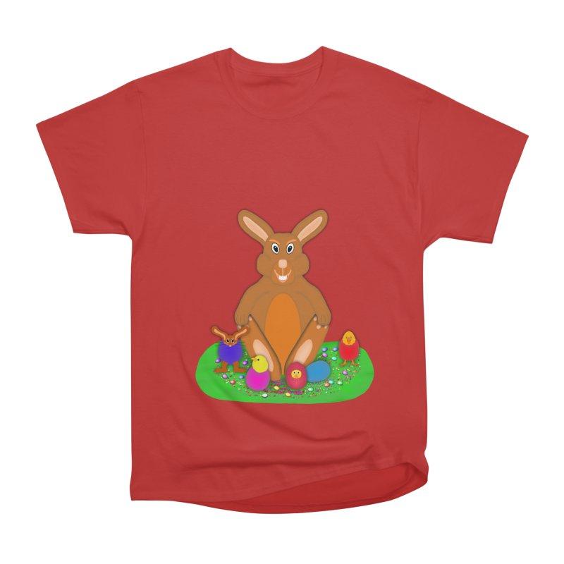 Funny Bunny Men's Heavyweight T-Shirt by nicolekieferdesign's Artist Shop