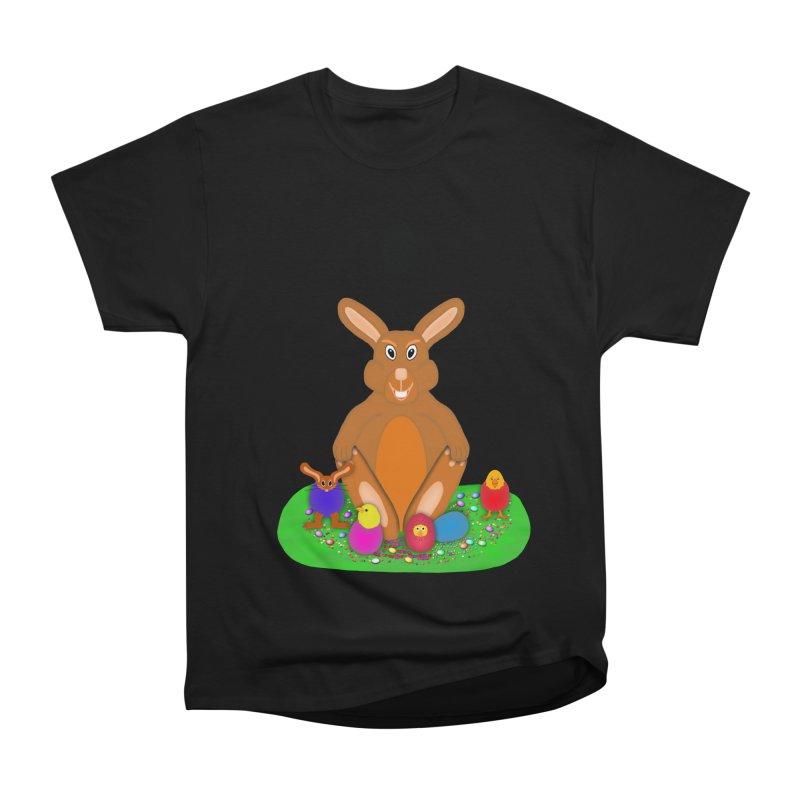 Funny Bunny Women's Heavyweight Unisex T-Shirt by nicolekieferdesign's Artist Shop