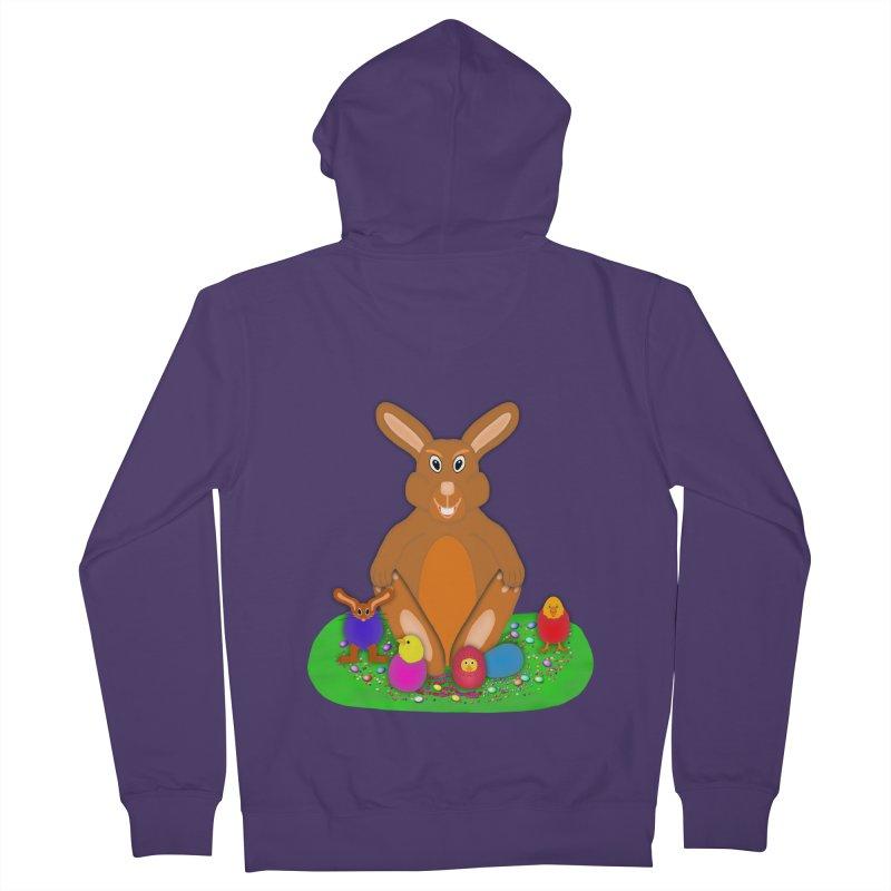 Funny Bunny Women's French Terry Zip-Up Hoody by nicolekieferdesign's Artist Shop