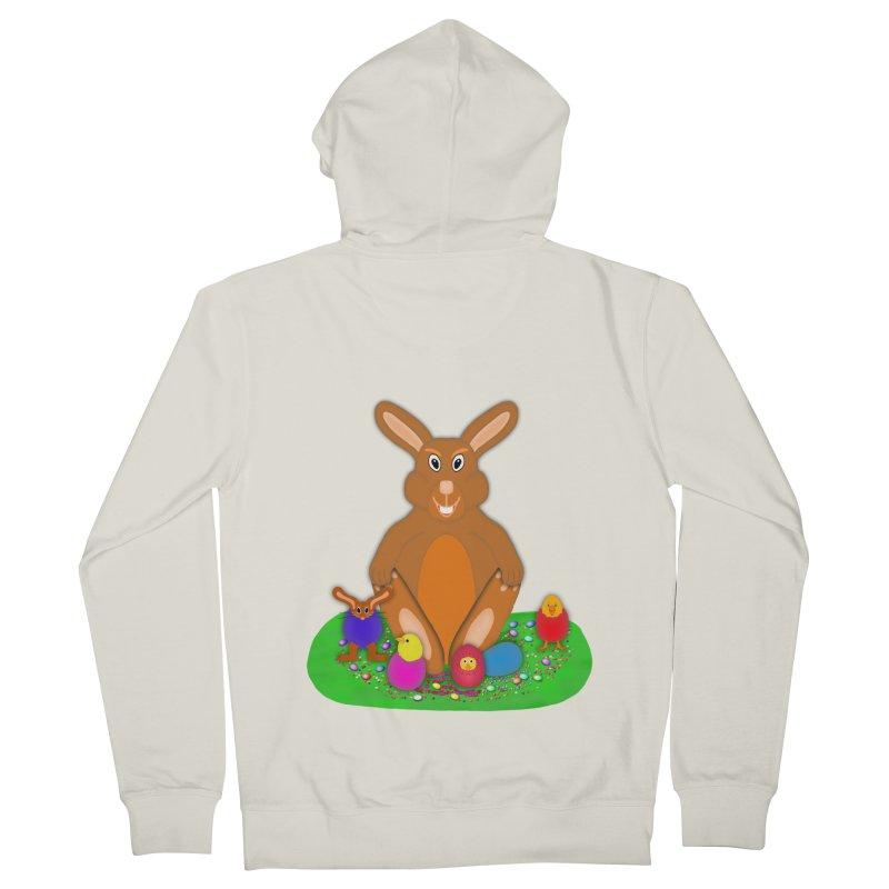 Funny Bunny Men's French Terry Zip-Up Hoody by nicolekieferdesign's Artist Shop