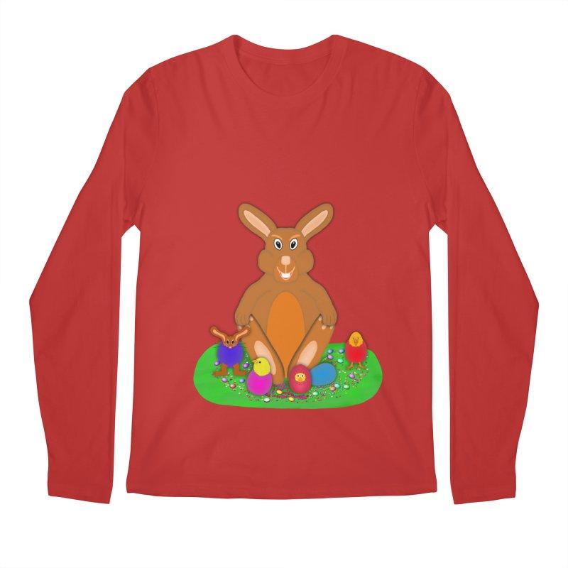 Funny Bunny Men's Regular Longsleeve T-Shirt by nicolekieferdesign's Artist Shop