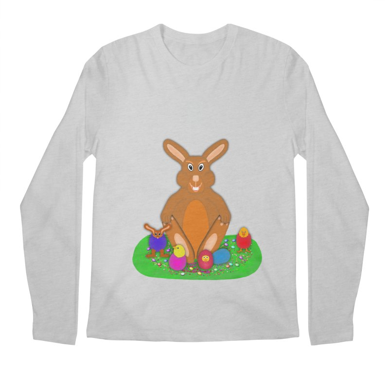 Funny Bunny Men's Regular Longsleeve T-Shirt by nicolekieferdesign's Artist Shop