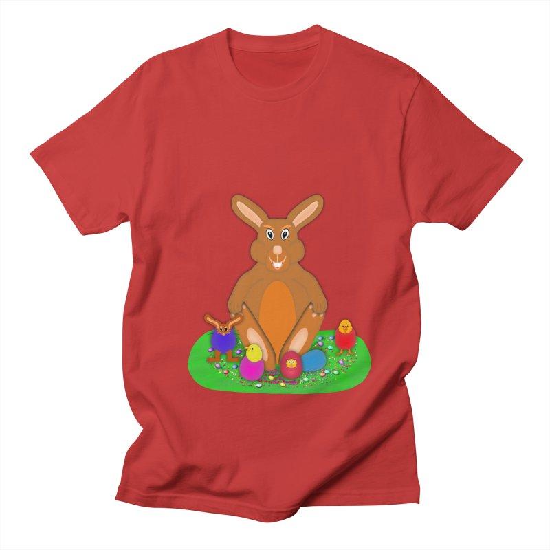 Funny Bunny Men's Regular T-Shirt by nicolekieferdesign's Artist Shop